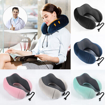 Memory Foam U-shaped Travel Pillow Neck Support Head Rest Airplane Soft Cushion 4