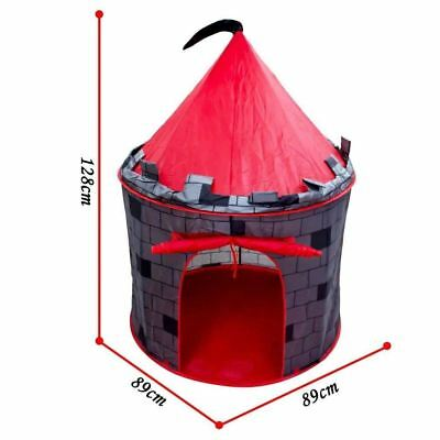 deAO Red Castle Pop up Play Tent Christmas Gift for Kids Children Playhouse 4