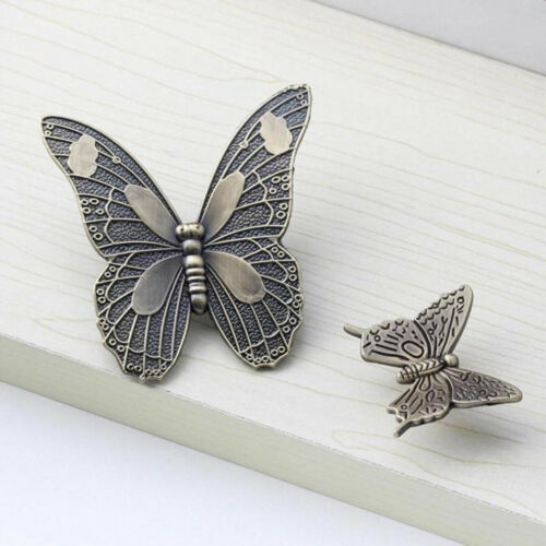 Vintage Wardrobe Door Knobs Butterfly Shape Cabinet Drawer Pulls Handle LL 7