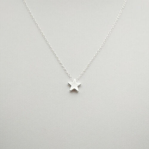 Simple Womens Gold Silver Star Pendant Clavicle Chain Choker Necklace SH