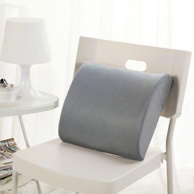 Memory Foam Lumbar Support Pillow Back Cushion Home Office Car Seat Pillows AU 11