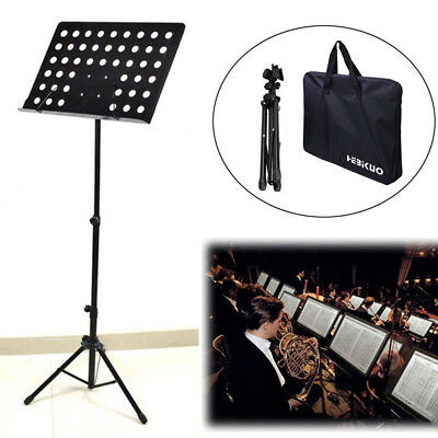 Heavy Duty Orchestral Conductor Sheet Music Stand Holder Tripod Base + Carry Bag 6