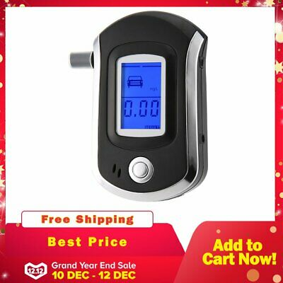 Portable Digital Alcohol Breathalyser Breath Tester Breathtester Blue LCD Hot MN 7