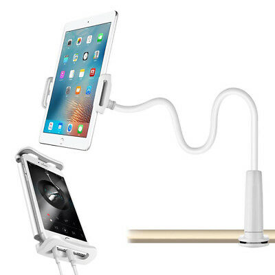 360 Gooseneck Table Bed Clamp Stand Holder Mount For iPad Tablet Flexible Arm UK