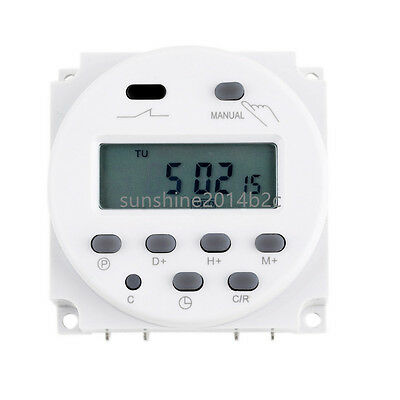 Digital LCD Zeitschaltuhr AC 12V 16A programmierbar Timer Schalter Zeit Gut L9 2