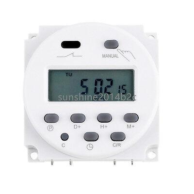 Zeitschaltuhr DC/AC 12V 16A LCD Digital-Display Programmierbar Timer OVP Neu FL 3