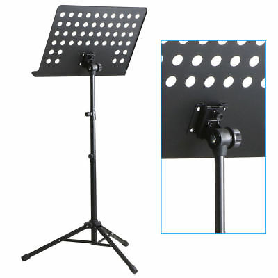 Heavy Duty Orchestral Conductor Sheet Music Stand Holder Tripod Base + Carry Bag 2