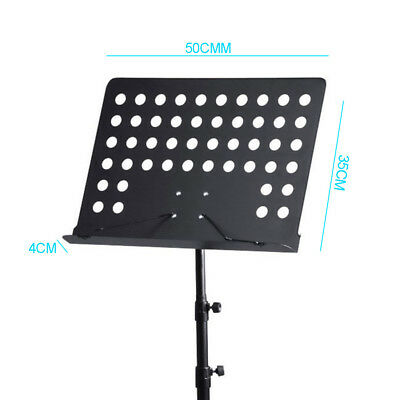 Heavy Duty Orchestral Conductor Sheet Music Stand Holder Tripod Base + Carry Bag 3