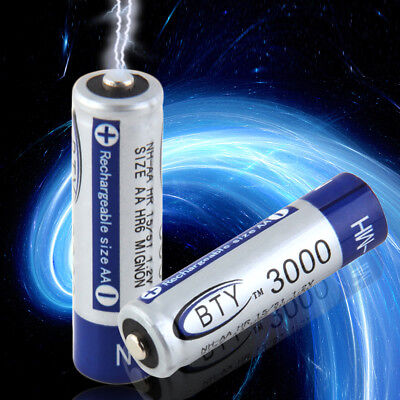 4-20pcs 3000mAh BTY AA Rechargeable Battery Recharge Batteries NI-MH 1.2V 3