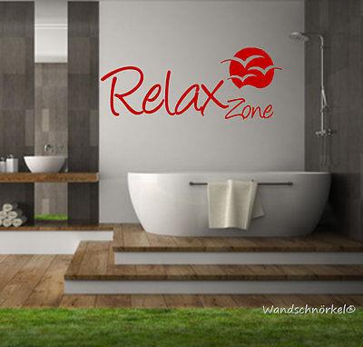WANDTATTOO BAD SAUNA Badezimmer ++Relax Zone++ Wandspruch W08077 ...