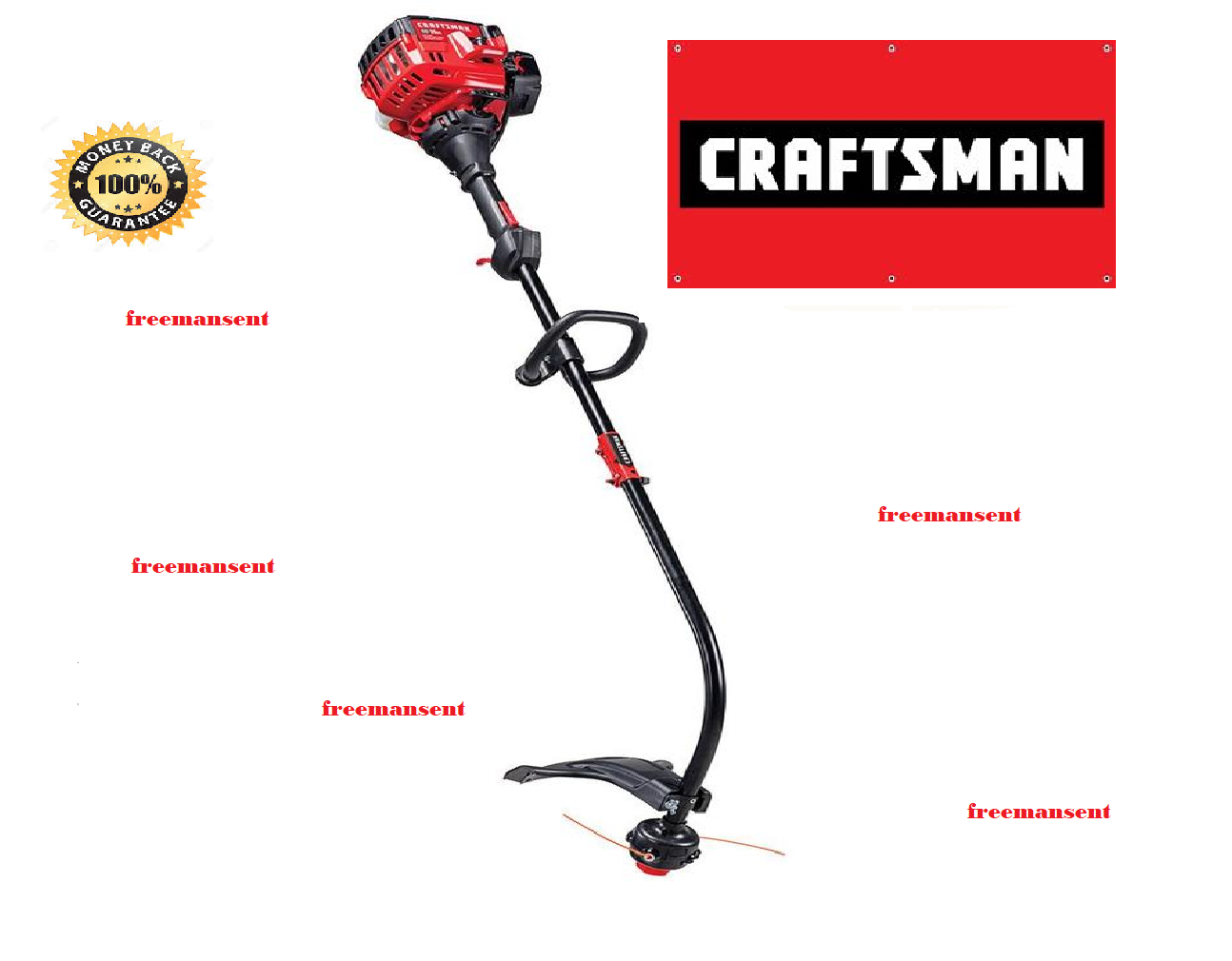 CRAFTSMAN 25CC 2-CYCLE Curved Shaft Weedeater Gas Trimmer Attachment  Compatible