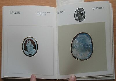 Russian Book Antique Cameo Art Old Miniature Portrait Stone Vintage European VTG 5