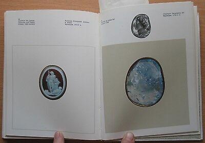 Russian Book Antique Cameo Art Old Miniature Portrait Stone Vintage European VTG 5