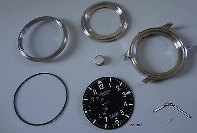 Uhrengehäuse-Bausatz für Unitas 6497/6498 für Profis CHEZARD Zifferblatt 04#2012