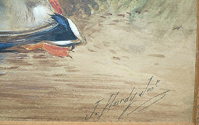 Antique Fine Art Sporting Watercolor Painting James Hardy Junior Hunting Scene 4