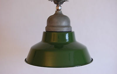 Crouse & Hinds Green & White Enamel Explosion Proof Vapor Light Industrial Glass 7