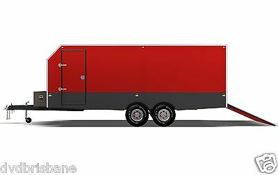 Trailer Plans - 6m ENCLOSED & 4m ENCLOSED MOTORBIKE TRAILER PLANS - on CD-ROM 6