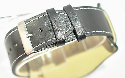 Military bund leather cuff watch strap Add a strap tool and new pins £1