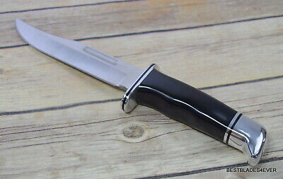 Buck 119 Special Fixed Blade Hunting Knife Made In Usa Full Tang Leather Sheath 7