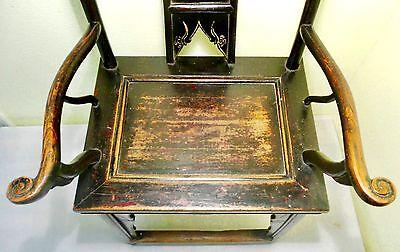 Antique Chinese High Back Arm Chairs (2721)(Pair), Circa 1800-1849 5