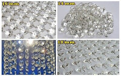 Cut Glass Crystals Chandelier Droplets Wedding Drops Beads Light Spare Parts 7