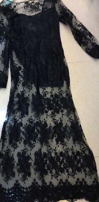 Vestito da donna lungo abito vestitino damigella cerimonia party ballo festa 2