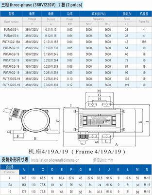 Vibration Motor Adjustable Speed 30W~90W 110/220/380V asynchronous Vibrate Motor 10