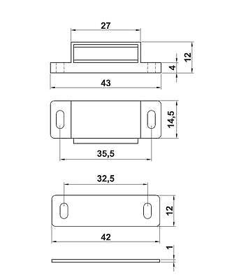 Magnetschnäpper Möbelmagnet Türmagnet Türverschluß Weiß oder Braun 3 Kg oder 5Kg