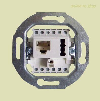 Rutenbeck DSL ISDN TAE Kombidose Dose Unterputz UP weiss Netzwerk Telefon weiß
