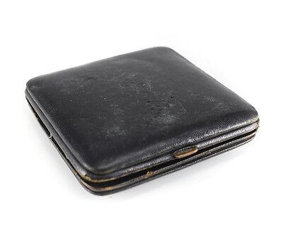 American Elgin 8 Day Travel Clock Keystone case body Gilt silveroid Leather case 8