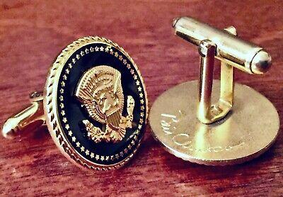 President Bill Clinton White House Gift POTUS Seal 1st Term COBALT Cufflinks