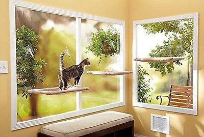 Hamac Siège Panier Lit Fenêtre Monté Ensoleillé Ventouse Chat Chien Chiot Animal 6 • EUR 9,98