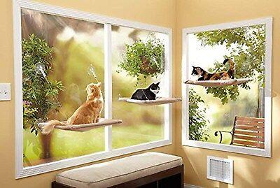 Hamac Siège Panier Lit Fenêtre Monté Ensoleillé Ventouse Chat Chien Chiot Animal 2 • EUR 9,98