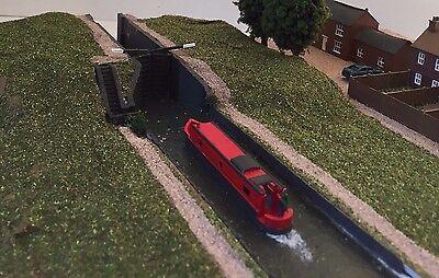 Working Canal Narrowboat Boat DAPR N Gauge Model Railway Scenery Building Kit