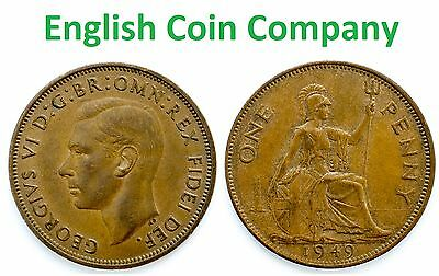 1937 To 1951 George Vi Penny / Pennies Choice Of Year / Date 4