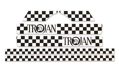 Check Stripe Sticker Set Fits Vespa PX T5 LML Black /& White Ska Checkers