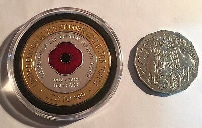 "2018 ""100 Years Of Armistice""  Poppy, Silver Stunner Coin, Limited to 500 C.O.A 3"
