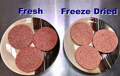BULK Freeze Dried 1/3-lb Hamburger Patties Camping Hiking Survival Storage Food! 10