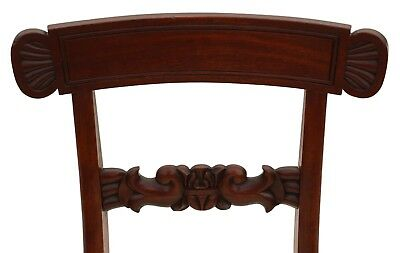 Antique quality set of 4 William IV mahogany bar back dining chairs C1835 4862 6