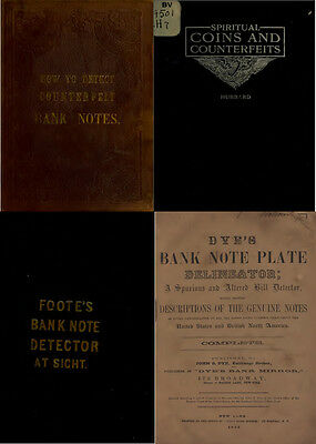 200 Old Books & Publications On Money Counterfeiting & Counterfeit Detector Dvd 4