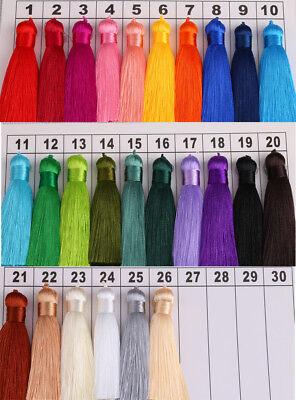 Hot 8cm 26 Colors Ice Silk Fat Tassel Trim Jewelry Making DIY Key Chian Pendant 3