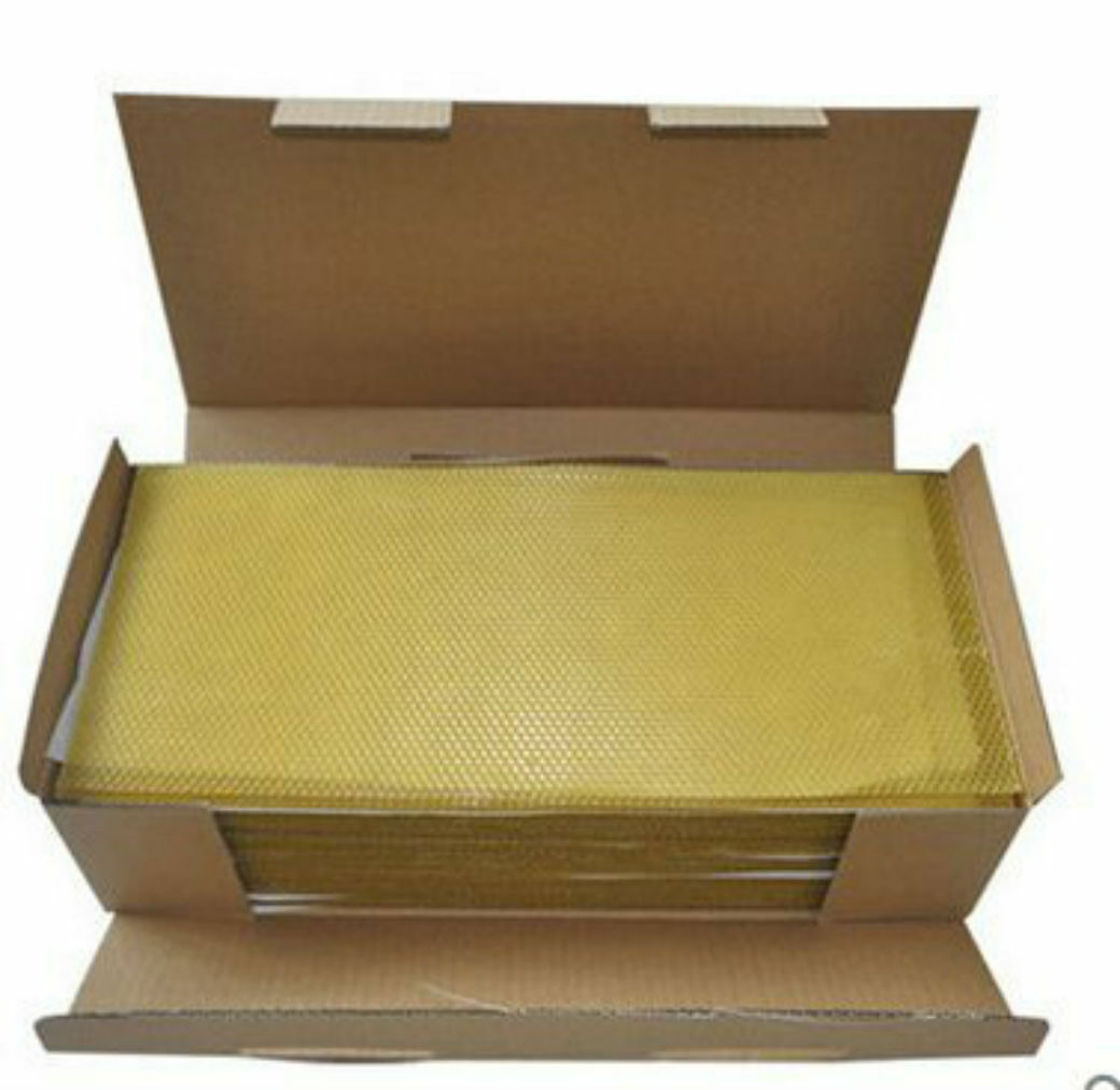 10 Sheets of Beeswax foundation-Perfect for Candle rolling-100% natural Beeswax 2