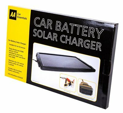 AA Official Car Essentials Solar Powered Car Battery Charger Maintainer Caravan 2