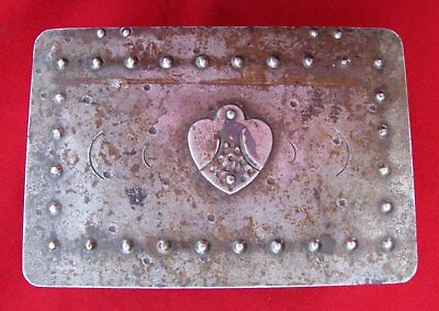 Antique Signed Scarce Small Hand Wrought Iron Box  By Goberg ~ Circa 1915 3
