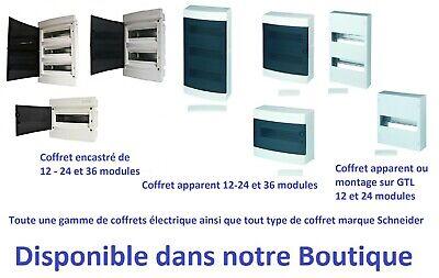 119 mm Largeur 12 Pas Schneider Electric 13396 Mini Coffret Opale 6 Modules 63 A Blanc 160 mm Hauteur 65 mm Profondeur