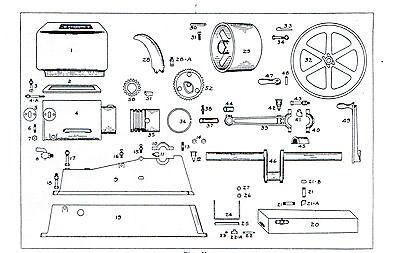 Jumbo Gas Motor Gasoline Engine Book Service Manual Hit Miss Stationary Flywheel 3