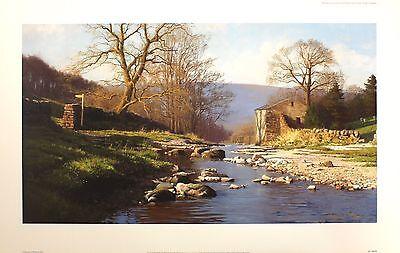 "PETER SYMONDS ""Forever England"" river cottage SIGNED! SIZE:51cm x 82cm NEW RARE 2"
