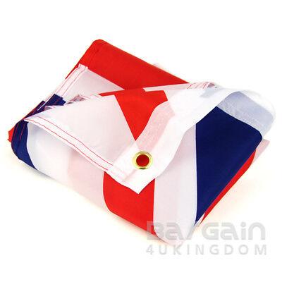 5 x 3FT Large Union Jack Flag Great Britain Fabric Polyester British GB Sport UK 3