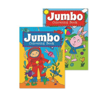 2 x A4 150 PAGE  JUMBO CHILDREN'S COLOURING BOOKS BOOK FUN PICTURES LEARNING 3