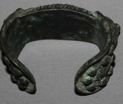 Antique Handcrafted Greek Orthodox Folk Bronze Fertility Bracelet